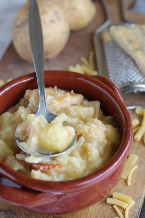 pasta e patate cucchiaio