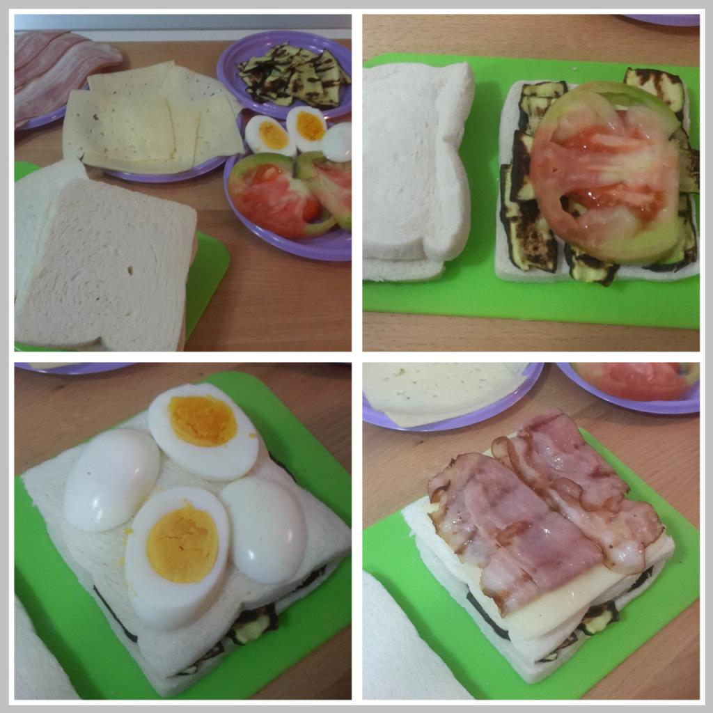 preparazione del sandwich