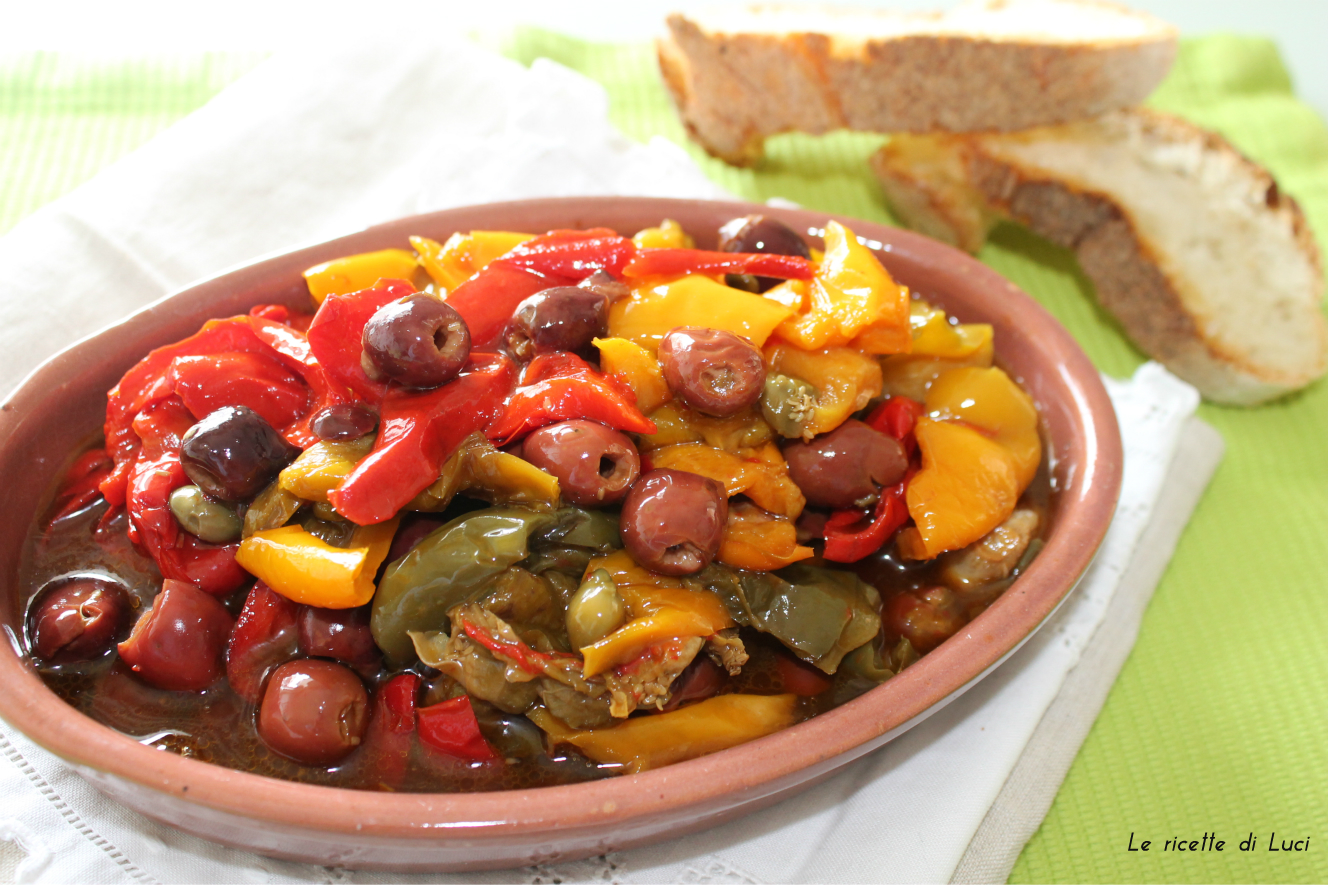peperoni olive e capperi