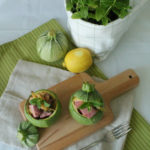 Zucchine rotonde con tonno e limone
