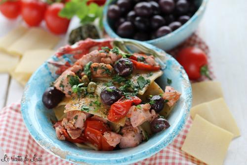 pettole tonno, olive e capperi