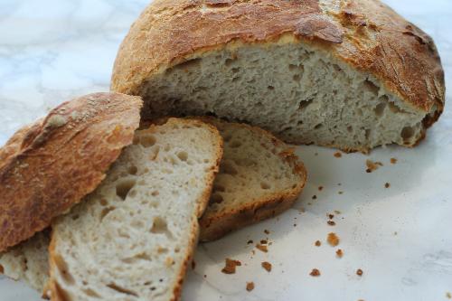 pane senza impasto bolle