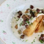 Fagottini ai funghi in crema di parmigiano della Giuly