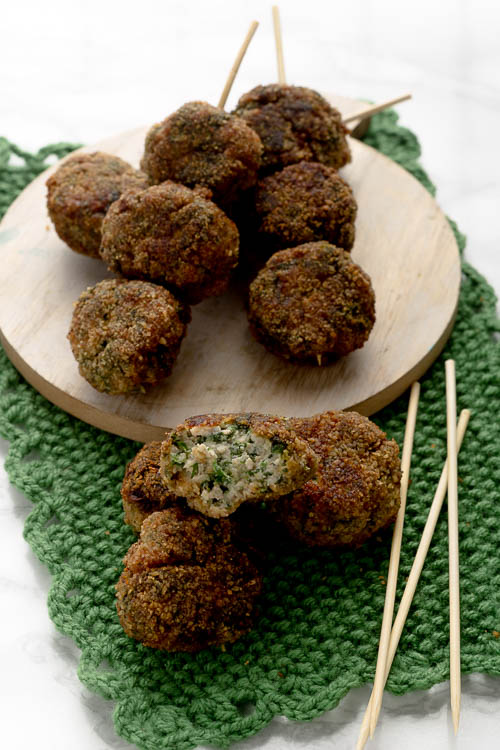 Polpette mascarpone spinaci e carne macinata 2