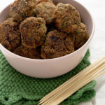 Polpette di carne, mascarpone e spinaci