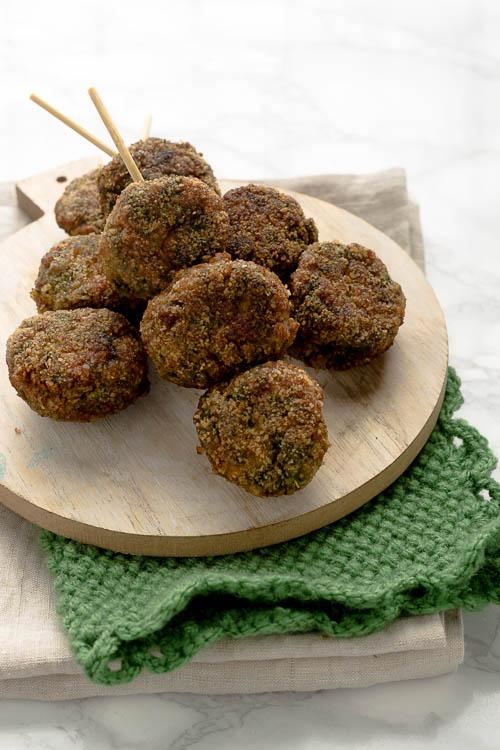 Polpette mascarpone spinaci e carne macinata