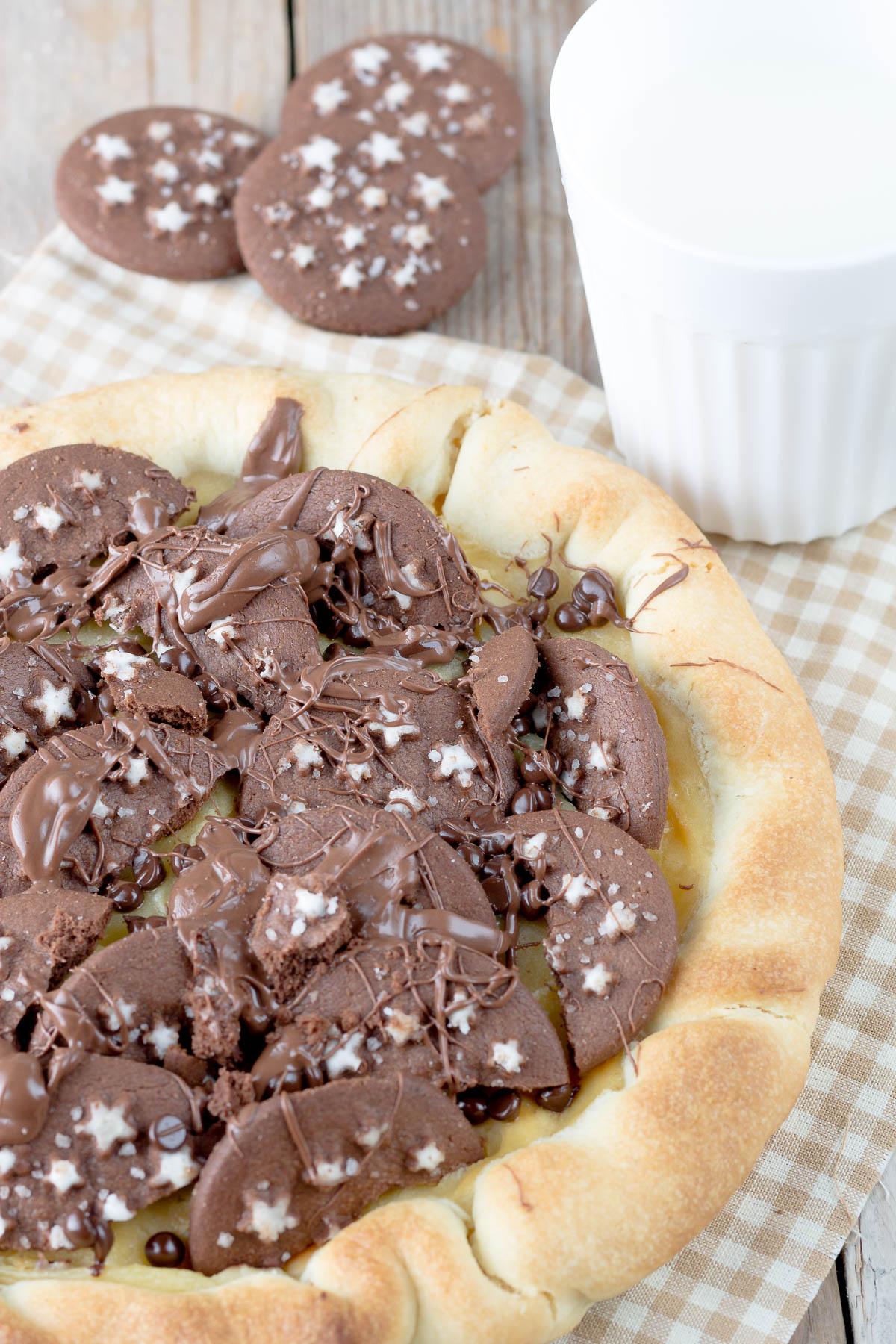 Bagno Nella Nutella.Crostata Con Crema Pasticcera Biscotti Pan Di Stelle E Nutella