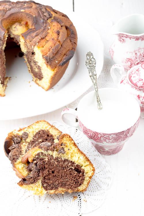 Ciambella mascarpone e cioccolato