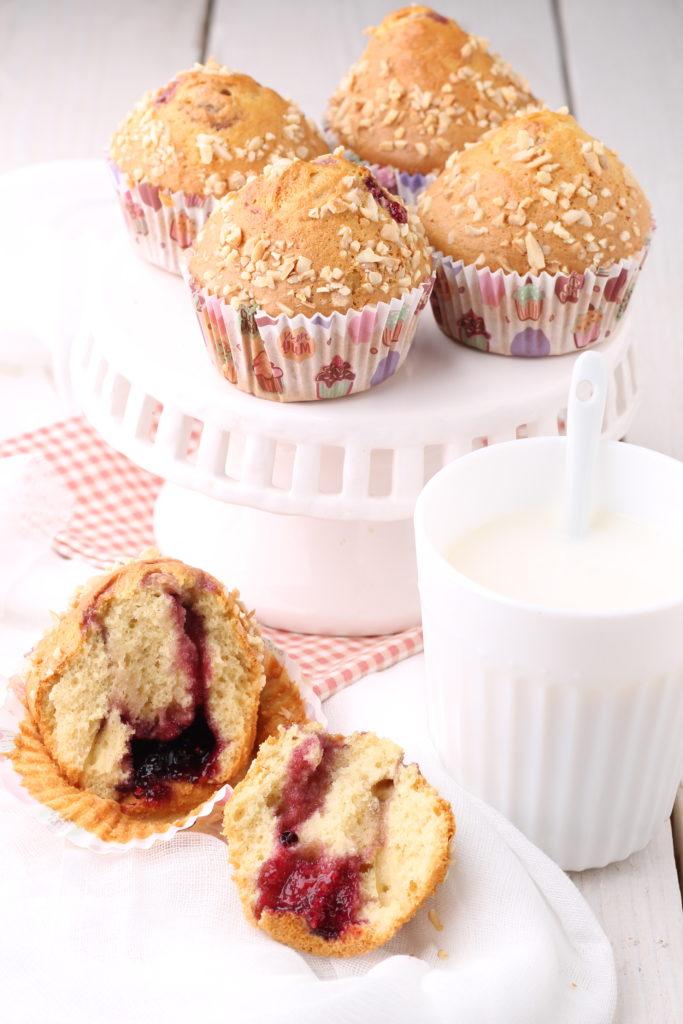 Muffin con marmellata