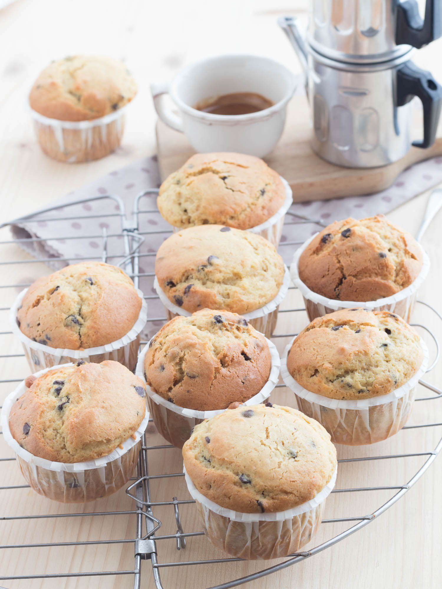 Muffins caffè, mascarpone e cioccolato